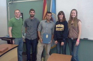 Founding members of the Geodesign Student Group at NAU